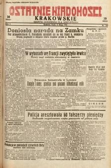 Ostatnie Wiadomości Krakowskie : gazeta codzienna dla wszystkich. 1932, nr130
