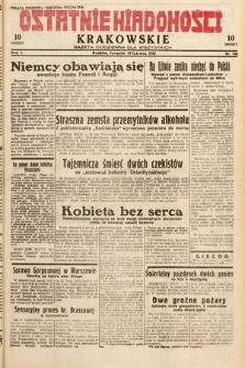 Ostatnie Wiadomości Krakowskie : gazeta codzienna dla wszystkich. 1932, nr166