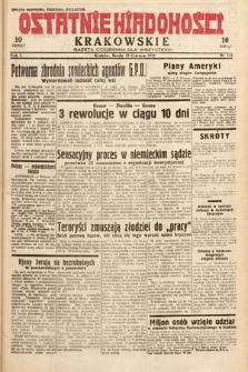 Ostatnie Wiadomości Krakowskie : gazeta codzienna dla wszystkich. 1932, nr172