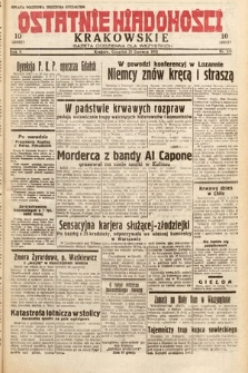 Ostatnie Wiadomości Krakowskie : gazeta codzienna dla wszystkich. 1932, nr173