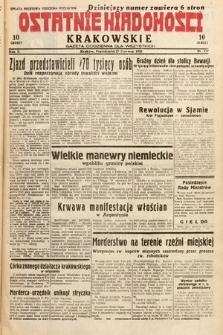 Ostatnie Wiadomości Krakowskie : gazeta codzienna dla wszystkich. 1932, nr177