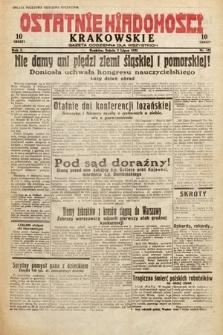 Ostatnie Wiadomości Krakowskie : gazeta codzienna dla wszystkich. 1932, nr182