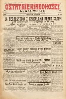 Ostatnie Wiadomości Krakowskie : gazeta codzienna dla wszystkich. 1932, nr186