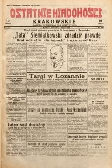 Ostatnie Wiadomości Krakowskie : gazeta codzienna dla wszystkich. 1932, nr187