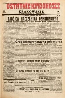 Ostatnie Wiadomości Krakowskie : gazeta codzienna dla wszystkich. 1932, nr190
