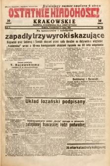 Ostatnie Wiadomości Krakowskie : gazeta codzienna dla wszystkich. 1932, nr191