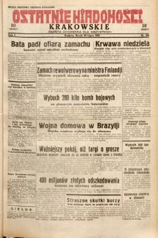 Ostatnie Wiadomości Krakowskie : gazeta codzienna dla wszystkich. 1932, nr200