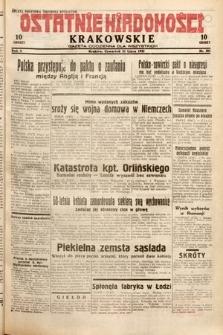 Ostatnie Wiadomości Krakowskie : gazeta codzienna dla wszystkich. 1932, nr201