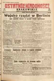 Ostatnie Wiadomości Krakowskie : gazeta codzienna dla wszystkich. 1932, nr203