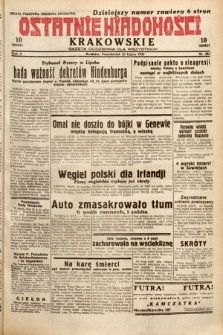 Ostatnie Wiadomości Krakowskie : gazeta codzienna dla wszystkich. 1932, nr205