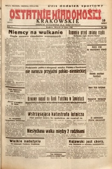Ostatnie Wiadomości Krakowskie : gazeta codzienna dla wszystkich. 1932, nr206