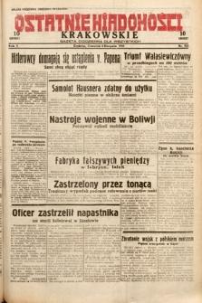 Ostatnie Wiadomości Krakowskie : gazeta codzienna dla wszystkich. 1932, nr215