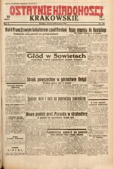 Ostatnie Wiadomości Krakowskie. 1932, nr221
