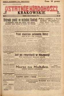 Ostatnie Wiadomości Krakowskie. 1932, nr224
