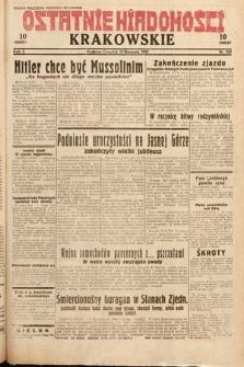 Ostatnie Wiadomości Krakowskie. 1932, nr229