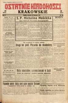 Ostatnie Wiadomości Krakowskie. 1932, nr231