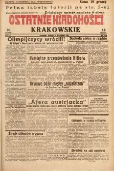 Ostatnie Wiadomości Krakowskie. 1932, nr252