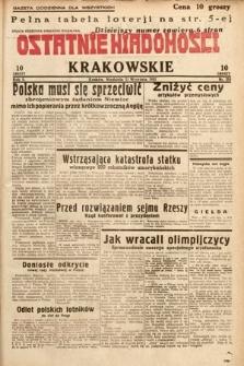 Ostatnie Wiadomości Krakowskie. 1932, nr253