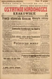 Ostatnie Wiadomości Krakowskie. 1932, nr254