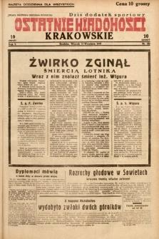 Ostatnie Wiadomości Krakowskie. 1932, nr255