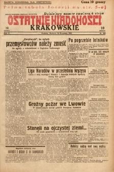 Ostatnie Wiadomości Krakowskie. 1932, nr260