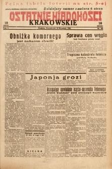 Ostatnie Wiadomości Krakowskie. 1932, nr261