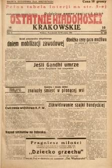 Ostatnie Wiadomości Krakowskie. 1932, nr268
