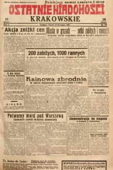 Ostatnie Wiadomości Krakowskie. 1932, nr272