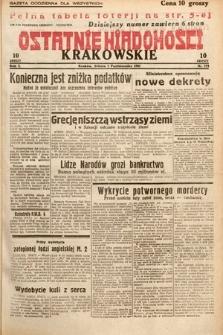 Ostatnie Wiadomości Krakowskie. 1932, nr273
