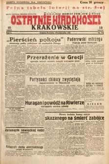 Ostatnie Wiadomości Krakowskie. 1932, nr274