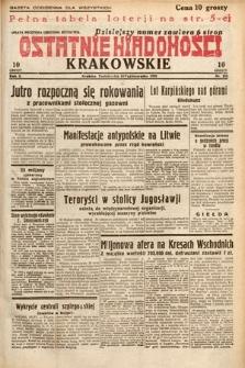 Ostatnie Wiadomości Krakowskie. 1932, nr282