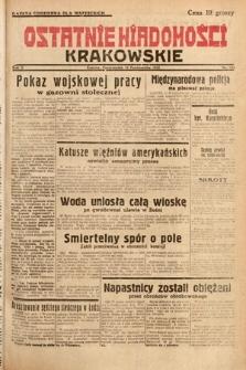 Ostatnie Wiadomości Krakowskie. 1932, nr284