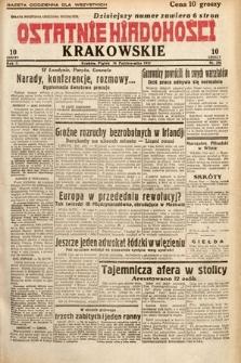 Ostatnie Wiadomości Krakowskie. 1932, nr286