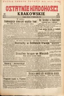 Ostatnie Wiadomości Krakowskie. 1932, nr287