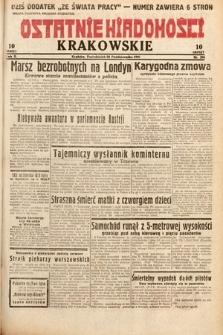 Ostatnie Wiadomości Krakowskie. 1932, nr296