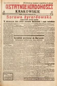 Ostatnie Wiadomości Krakowskie. 1932, nr299
