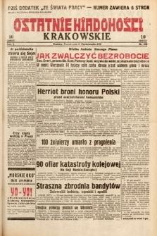 Ostatnie Wiadomości Krakowskie. 1932, nr303