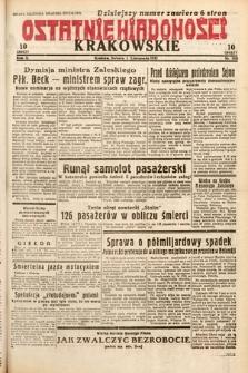 Ostatnie Wiadomości Krakowskie. 1932, nr308