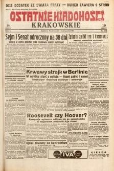 Ostatnie Wiadomości Krakowskie. 1932, nr310