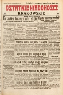 Ostatnie Wiadomości Krakowskie. 1932, nr311