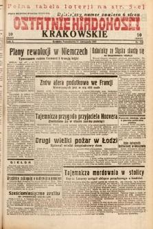 Ostatnie Wiadomości Krakowskie. 1932, nr324