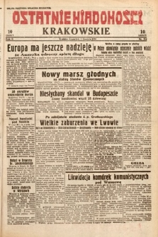 Ostatnie Wiadomości Krakowskie. 1932, nr334