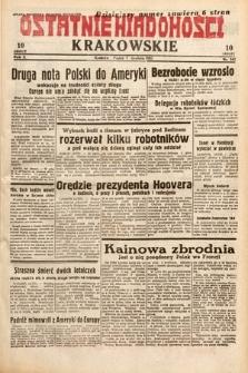 Ostatnie Wiadomości Krakowskie. 1932, nr342