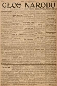 Głos Narodu (wydanie wieczorne). 1919, nr7