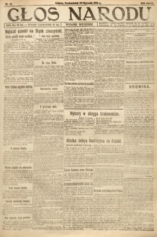 Głos Narodu (wydanie wieczorne). 1919, nr18
