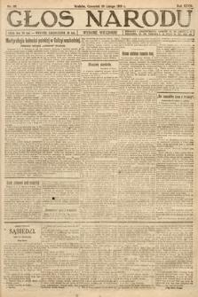Głos Narodu (wydanie wieczorne). 1919, nr39