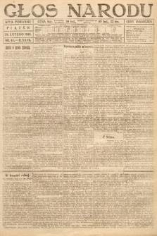 Głos Narodu (wydanie poranne). 1919, nr45