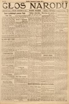 Głos Narodu (wydanie wieczorne). 1919, nr45