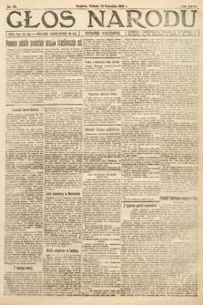 Głos Narodu (wydanie wieczorne). 1919, nr82