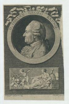 Autografy Johanna Georga Krüniza i inne materiały z nim związane